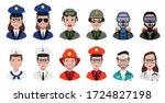 police avatar  fireman avatar  ...   Shutterstock .eps vector #1724827198