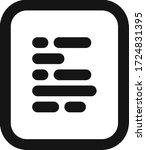 document vector flat line...   Shutterstock .eps vector #1724831395