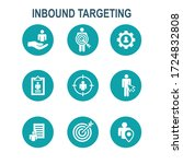 inbound marketing icons with... | Shutterstock .eps vector #1724832808
