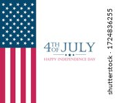 usa independence day  fourth of ... | Shutterstock .eps vector #1724836255