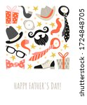 fathers day greeting card... | Shutterstock .eps vector #1724848705