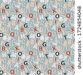 vector seamless pattern with... | Shutterstock .eps vector #1724854048