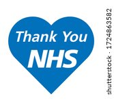 thank you nhs rainbow love... | Shutterstock .eps vector #1724863582