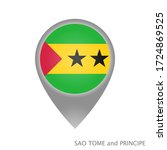map pointer with flag of sao... | Shutterstock .eps vector #1724869525