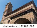 Exterior of the historic church of Piratello, Imola, Bologna, Emilia-Romagna, Italy