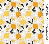 summer seamless pattern. whole... | Shutterstock .eps vector #1724879392