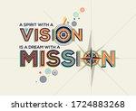 vision and mission quote in...   Shutterstock .eps vector #1724883268