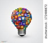 modern creative vector light... | Shutterstock .eps vector #172488872