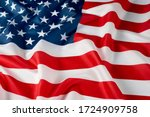 close up of ruffled american... | Shutterstock . vector #1724909758