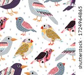seamless pattern with different ...   Shutterstock .eps vector #1724964865