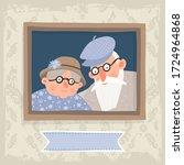 illustration with grandparents. ...   Shutterstock .eps vector #1724964868