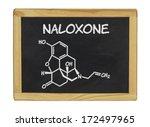 chemical formula of naloxone on ... | Shutterstock . vector #172497965