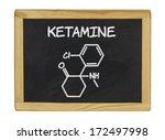 chemical formula of ketamine on ... | Shutterstock . vector #172497998