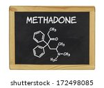 chemical formula of methadone... | Shutterstock . vector #172498085