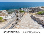 Ancient Stairs On The Cliff Of...