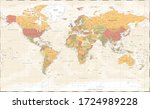 world map vintage political  ...   Shutterstock .eps vector #1724989228