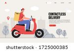 online contactless delivery... | Shutterstock .eps vector #1725000385