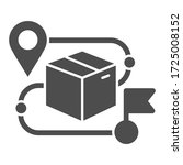 product box and map pin solid... | Shutterstock .eps vector #1725008152