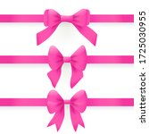 pink bows and ribbons isolated... | Shutterstock .eps vector #1725030955