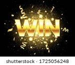 win golden text with glitter ... | Shutterstock .eps vector #1725056248