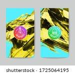 set of vector business card... | Shutterstock .eps vector #1725064195