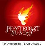 pentecost sunday dove logo...   Shutterstock .eps vector #1725096082