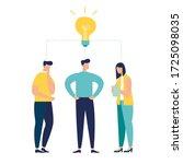 vector illustration  teamwork ... | Shutterstock .eps vector #1725098035