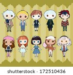 funny boys and girls set | Shutterstock .eps vector #172510436