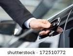 opening his new car. close up... | Shutterstock . vector #172510772