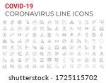 coronavirus covid 19 pandemic... | Shutterstock . vector #1725115702