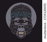 gorilla head bandana vector... | Shutterstock .eps vector #1725120055