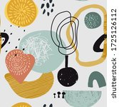 vector colorful collage... | Shutterstock .eps vector #1725126112