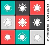 white sun icon sign pictogram... | Shutterstock . vector #1725130765