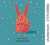 rabbit shape illustration with... | Shutterstock . vector #1725130882