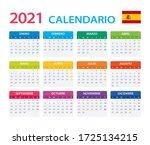 2021 Calendar Spanish   Vector...
