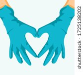 hands in the shape of a heart....   Shutterstock .eps vector #1725138202