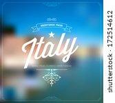 retro typographical  vintage... | Shutterstock .eps vector #172514612