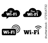 wifi icons. wifi symbols.... | Shutterstock .eps vector #172514732