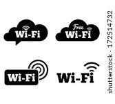 wifi icons. wifi symbols.... | Shutterstock .eps vector #172514732