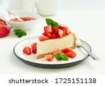 Slice Of Cheesecake With...