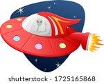 vector illustration of an alien ... | Shutterstock .eps vector #1725165868