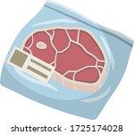 packaging of frozen red meat.... | Shutterstock .eps vector #1725174028