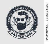 barbershop logo with barber...   Shutterstock .eps vector #1725175108