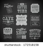 retro bakery label  typography  ... | Shutterstock .eps vector #172518158