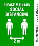 please maintain social...   Shutterstock .eps vector #1725182332