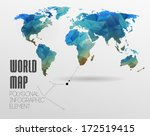 Polygonal World Map And...