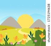 beautiful natural landscape....   Shutterstock .eps vector #1725194638