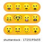 set of emoticons. set of emoji. ... | Shutterstock .eps vector #1725195655