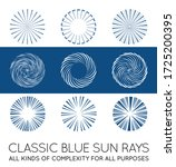 set of sunburst vector rays of...   Shutterstock .eps vector #1725200395