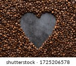 Heart Made Of Coffee Beans On...
